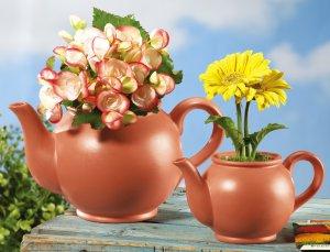 Whimsical Ceramic Teapots Garden Planters