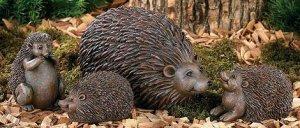 Hedgehog Family Garden Yard Decor