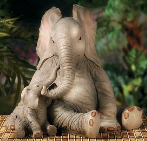 Elephant Family Garden Yard Decor