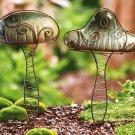 Ceramic Mushrooms Garden Stake
