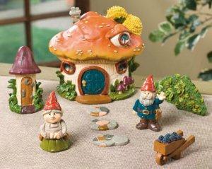 Gnome Village Yard Garden Decor