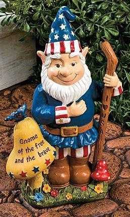 Americana Gnome Garden Yard Decor