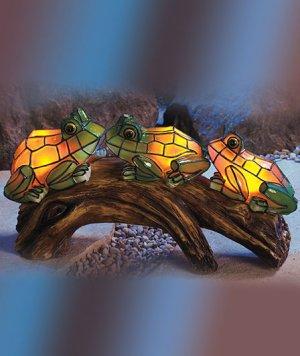 Solar Mosaic Frogs Garden Yard Decor