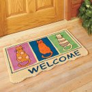 Welcome Cats Coir Doormat Mat