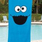 Sesame Street Cookie Monster Beach Towel