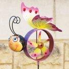 Butterfly Windmill Spinner Garden Stake