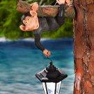Monkey Hanging Tree Hanger With Solar Lantern