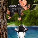 Monkey Laying Tree Hanger With Solar Lantern