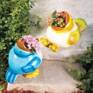 Feeding Bird Planter Set
