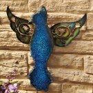 Blue Glass Garden Bird Wall Hanging