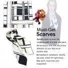 VTG Hand Rolled Large Square Silk TOPSELLER Dress Scarf