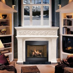 "53"" Designer Series Michael Angelo Stone Fireplace Mantel Mantle"