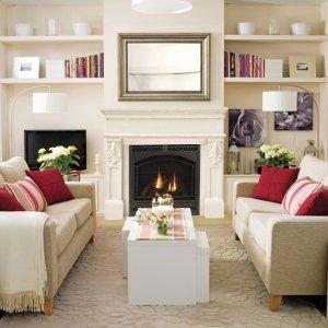 "53"" Designer Series Paris Stone Fireplace Mantel Mantle"