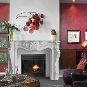 "53"" Designer Series Louis XIII Stone Fireplace Mantel"
