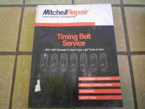 1974-1997 Mitchell Timing Belt Service Manual