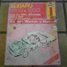 1980-1983 Haynes Subaru 1600 & 1800 Owners Workshop Manual
