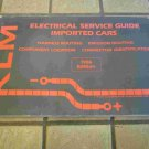1986 KLM Electrical Service Guide Imported Cars