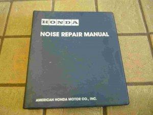 Honda Official Factory Noise Repair Manual
