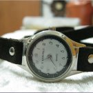Leather Wrap Bracelet leather Watch with a brown real leather band with a lovely pattern FREE SHIP
