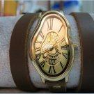 bracelet Watch, Men's watch, women's watch Silver Dali Fluid - Wrist Watch -Leather Watch