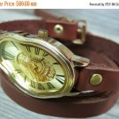 Dali Fluid Leather Wrist Watch - Leather Watches - Women's Watches-Leather Accessorie