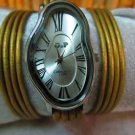 Leather Wrap Watch, Natural Brown Synthetic Leather Watch, Womens Gift,Teen Gift Accessories