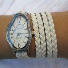 Leather Wrist Watch Leather bracelet,Melting Softwatch,Melting Clock,warped watch,wrist watch