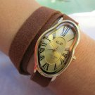 Brown Leather , Leather Watch band, Unisex Leather Watch, Leather Cuff Watch, Leather Wrist Watch