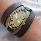 Women wrist watch,SoftWatch,Soft Watch,Wave Wavy,Time Warp,Silver Wrap,Salvador Dali Fluid