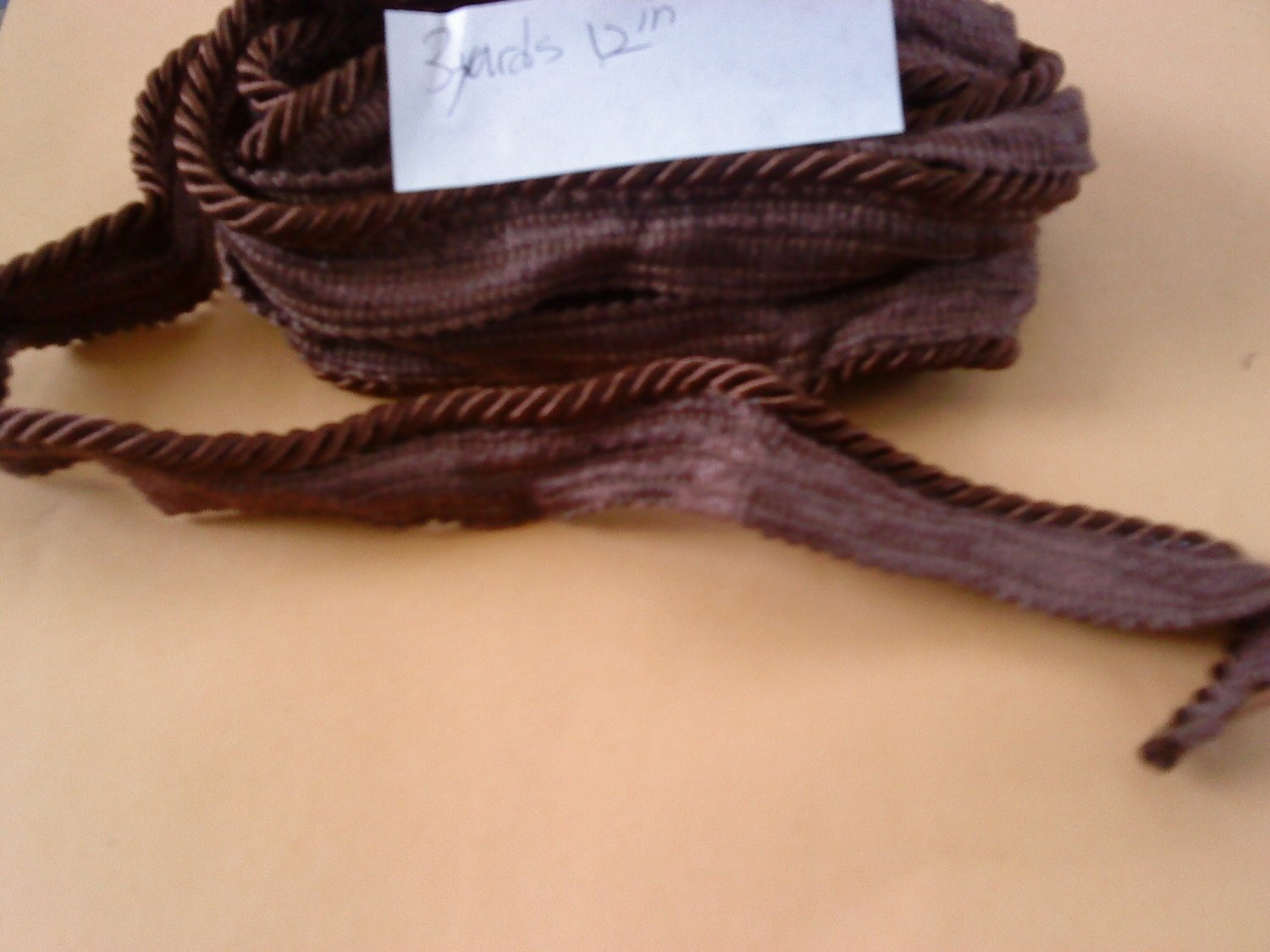 """3 YARDS 12"""" Solid Pipings Flanged cord trimming Cordedge"""