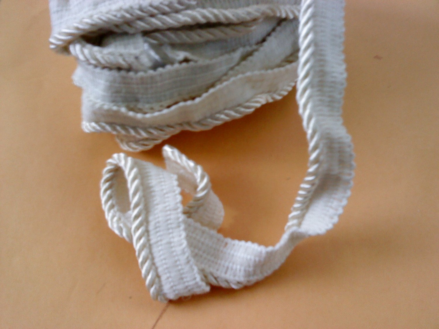 """6 YARDS 2"""" Solid Pipings Flanged cord trimming Cordedge"""
