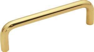 1 Belwith PW354-3 SOLID BRASS Wire Pull /Handle 3-1/2'' DrillCenterCabinet Pull