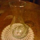 VINTAGE Plain 11''  Clear Glass  Vase