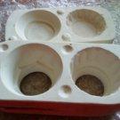 Vintage CANDLE CUP   Ceramic Mold  DM #413