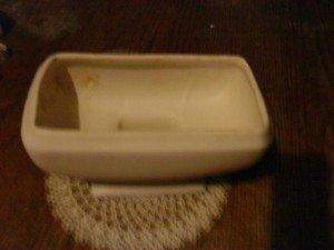 Collectible Vintage Ceramic  Planter  White