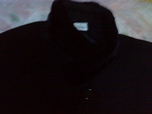 Harve Bernard Wool with Faux Fur Trim Collar/ Sleeves 49'' Long Black 14P Coat