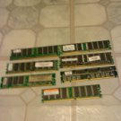 6 X  256MB MIXED LOT  MEMORY FOR DESTTOP