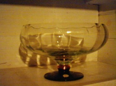 NEW Made in Romania hand crafted large crystal Punch/Salad bowl with Brass and B