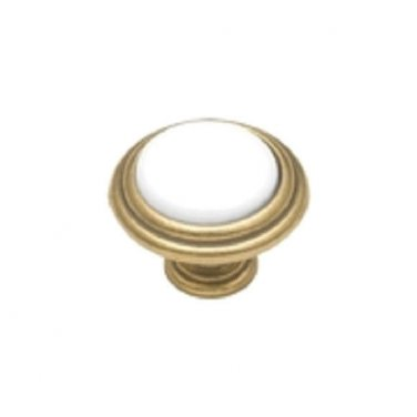 1 Belwith # P416-W White Brass  Cabinet  Knobs  PULL