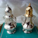 "2 NEW VINTAGE TOWLE  SLIVER Plated  4"" SALT AND PEPPER SHAKERS"