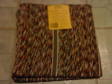 """2 Rectangle  Multi-Color  Braided Reversible Rug 24"""" x 45"""""""