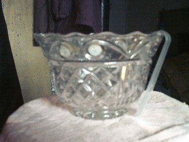 1 NEW MADE IN POLAND LEAD CRYSTAL SALAD BOWL