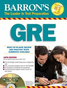GRE by Sharon Weiner Green and Ira Wolf (2009, Paperback) 18TH Edition
