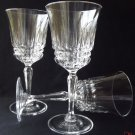 "1 BARCELONA  By CRIS D'ARQUES/DURAND 8 1/2""  CRYSTAL GOBLETS"