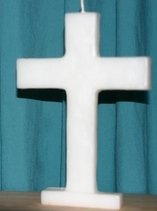 Large Cross Candle  -  White