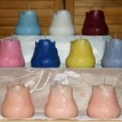 Rosebud candles large 3 set. Triple Scented U Choose Color