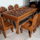 Teak hand Carved Dining Sets