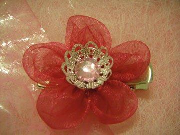 Hot pink Chiffon cherry blossom