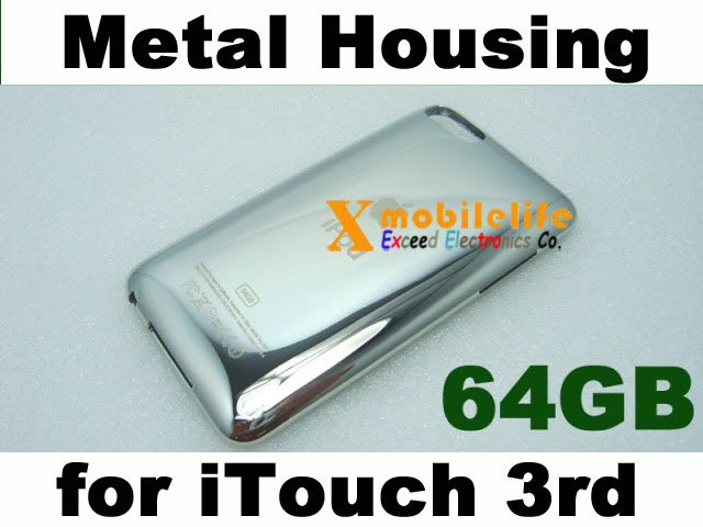 64GB Metal Back Case Housing Shell Cover for iPod Touch 3rd