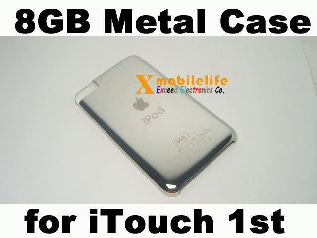 8GB Metal Back Rear Case Housing Cover Shell for iPod Touch 1st Gen